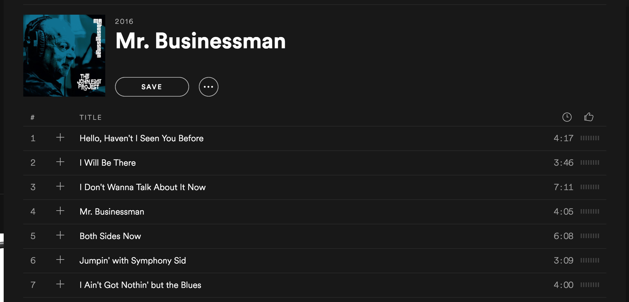 Mr Businessman (album on Spotify)